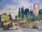 Street in Barbischio, Italy