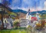 Ansicht von Verhartice, Böhmen