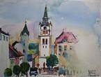 Stadtplatz von Vimperk, Böhmen