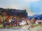 Das Dorf Beneda, Böhmen