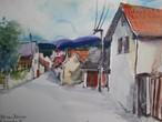 Street in Pecnov, Bohemia