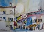 Street Scene in Citadella, Italy