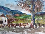 Cows in the Meadow, Bohemia