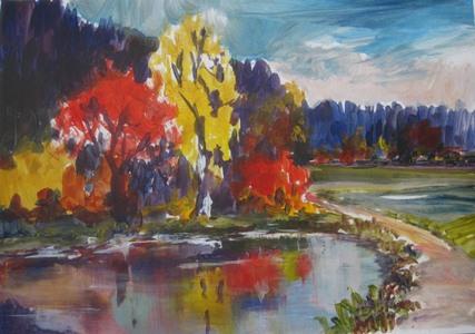 Brooklet in autumn