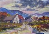 Street and farm houses